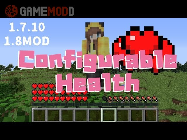Configurable Health [1.8] [1.7.10]