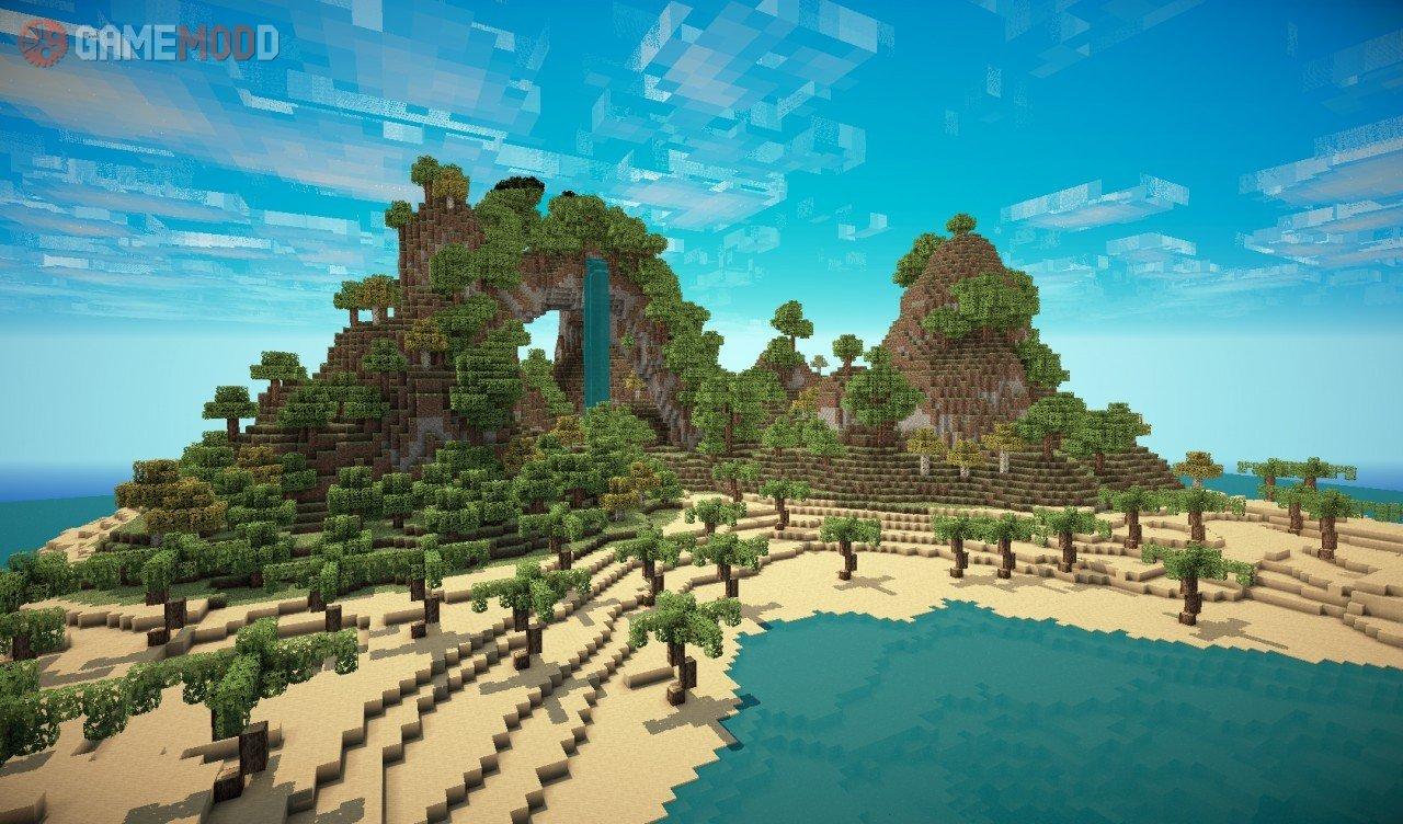 Tropical Island 1 8 1 1 8 1 7 10 Minecraft Maps Gamemodd