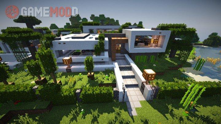 modern house minecraft download 1.7.10