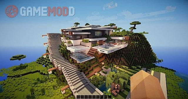 Mountain Modern House 1 8 8 1 8 1 7 10 Minecraft Maps