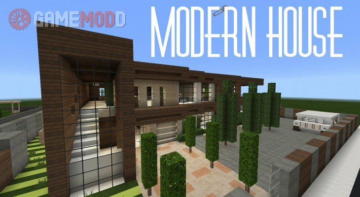 Huge Modern House 1 11 2 1 10 2 Minecraft Maps Gamemodd