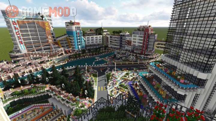 Map 111 2.The City Of Color 1 12 2 1 12 1 11 2 Minecraft Maps Gamemodd