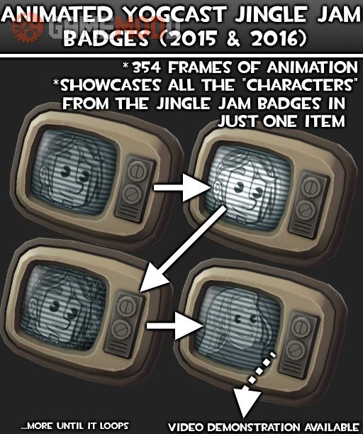 Animated Yogcast Jingle Jam Badges
