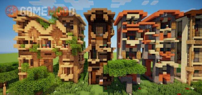 Minecraft Letter Frame Houses [1.8.1] [1.8] [1.7.10] [1.7.2]