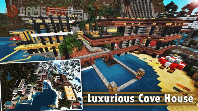 Luxurious Cove House [1.8.1] [1.8] [1.7.10] [1.7.2]