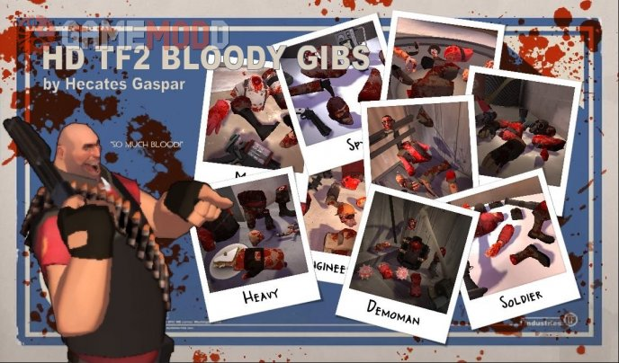 H.Gaspar's HD Bloody TF2 Gibs Pack