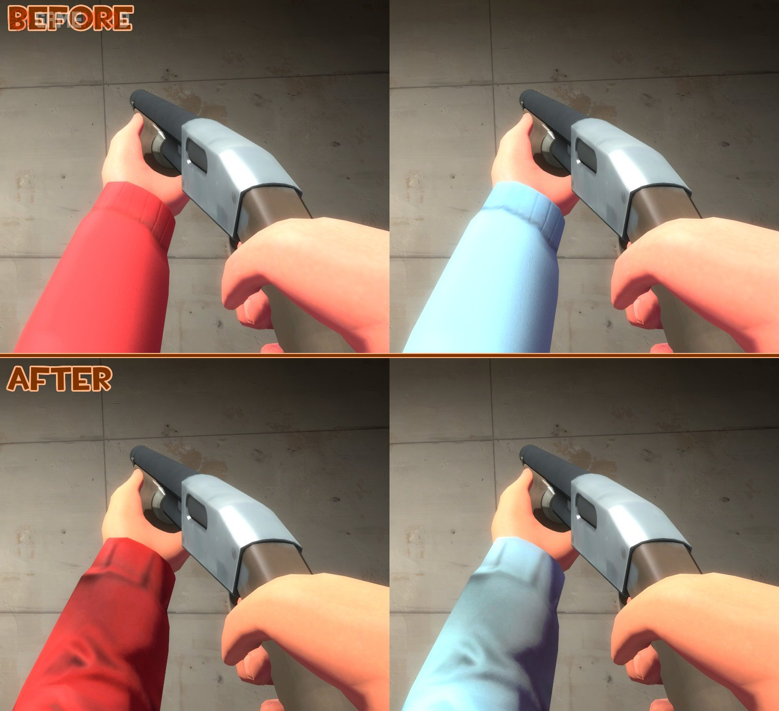 Better Soldier Viewmodel Arms » TF2 - Skins Soldier | GAMEMODD