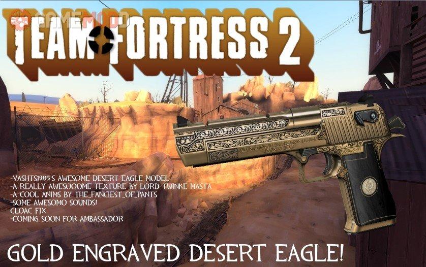 Download Good Revolver Skin Gold Engraved Desert Eagle For TF2
