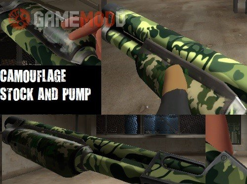Backwoods Boomstick Camouflage Pump and Stock