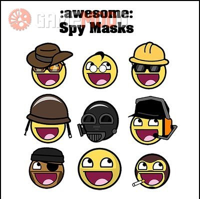 Awesome Smiley Spy Masks