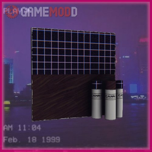 Vaporwave Grid War Paint