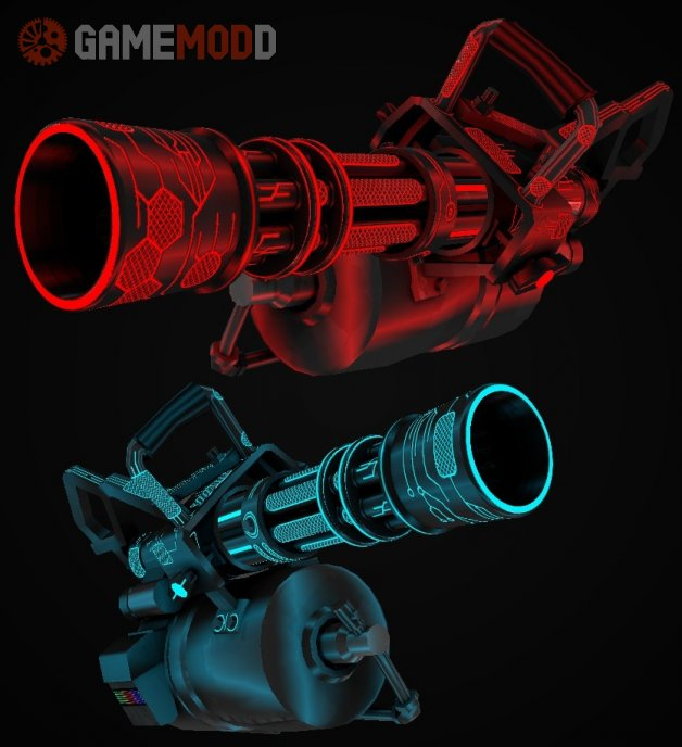 Futuristic Nanotech minigun