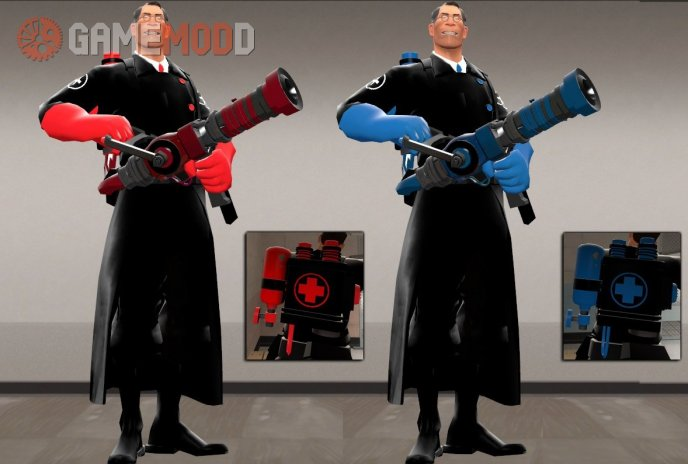 Dark Clothes Medic + Medic Pack