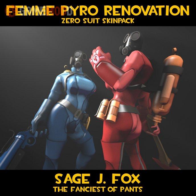 Femme Pyro: Zero Suit Skins v1.2