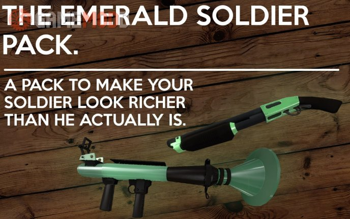 The emerald Soldier Pack.