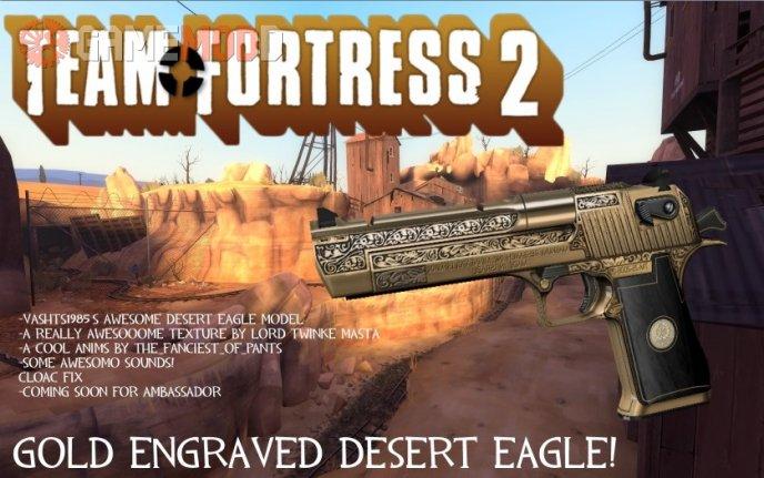 Gold Engraved Desert Eagle!