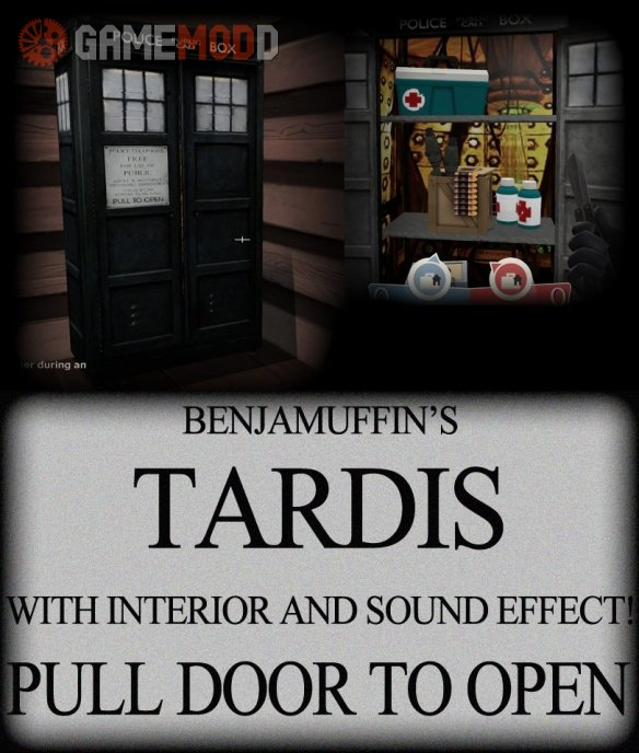 TARDIS Resupply! With sound effect!