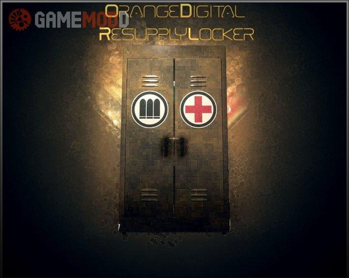Orange Digital Resupply Locker
