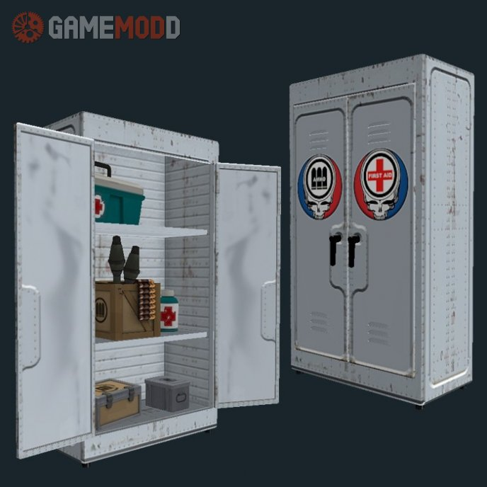 Reinforced Metal Locker(Skull)