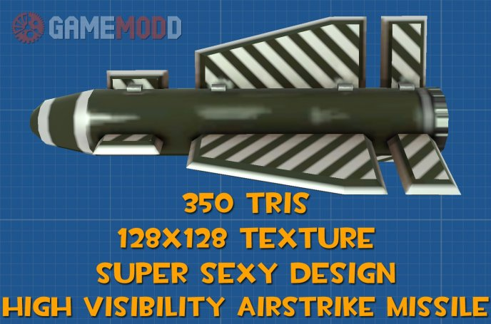 High Visibility Airstrike Missile