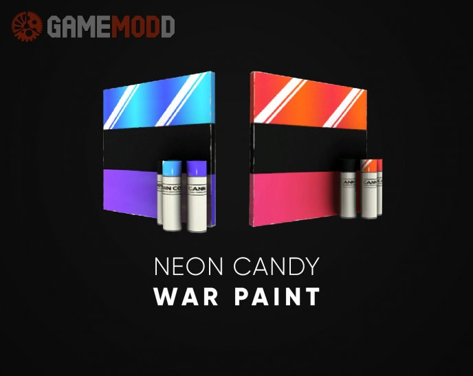 Neon Candy War Paint
