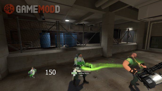 Green Medigun Beam