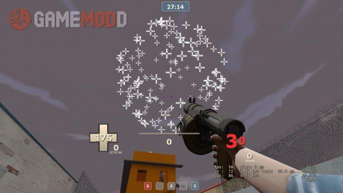 Minecraft inspired explosion