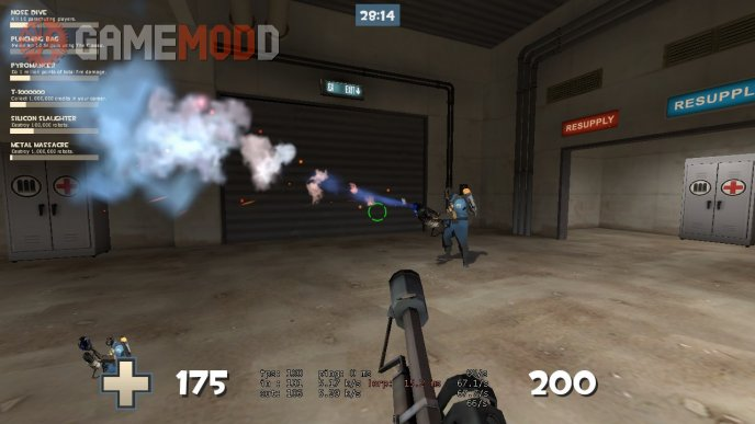 Blue halloween flamethrower