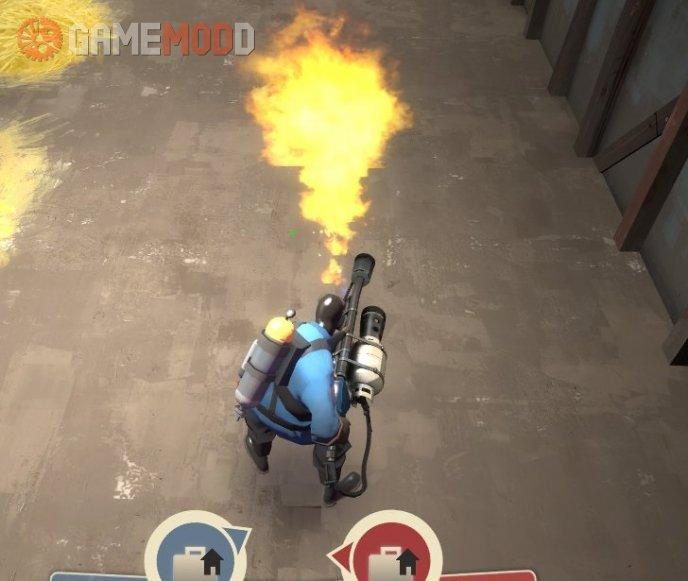 Realistic Team-Colored Fire