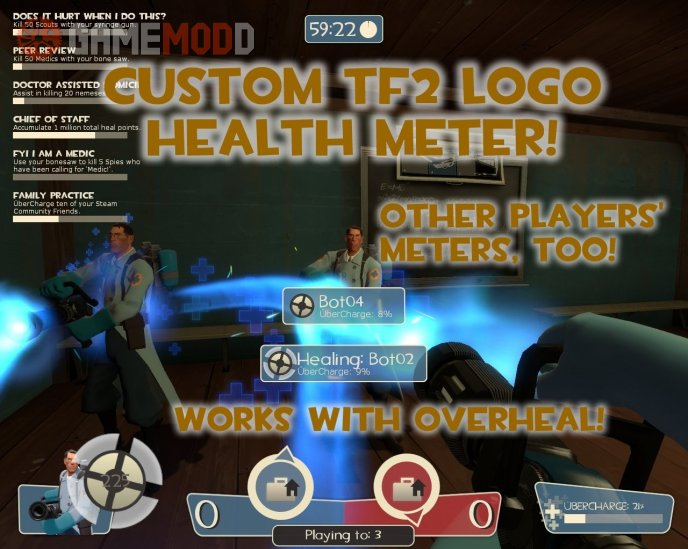 Custom TF2 Logo Health Meter!