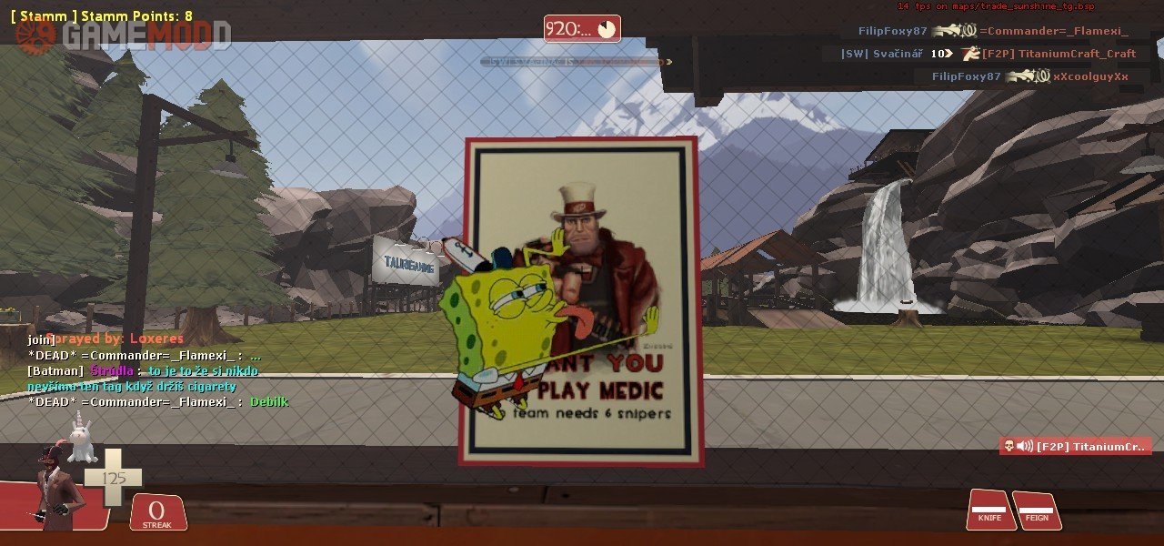 Spongebob licking spray » TF2 - Sprays Cartoons | GAMEMODD
