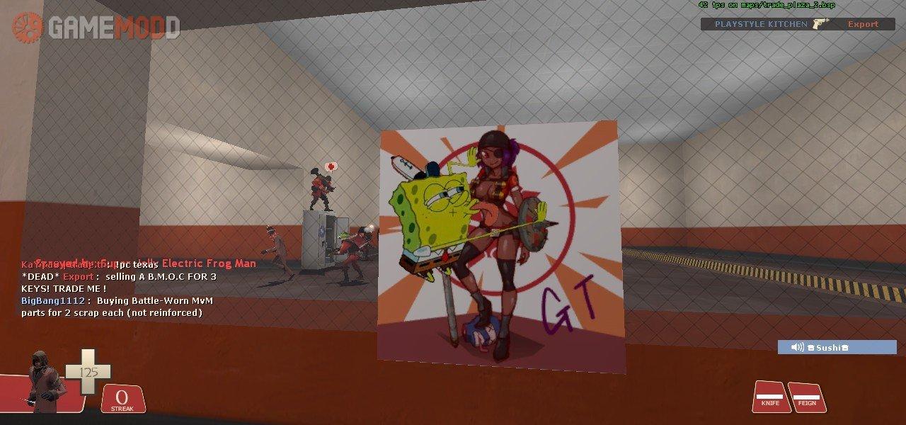 Spongebob licking spray » TF2 - Sprays Cartoons | GAMEMODD