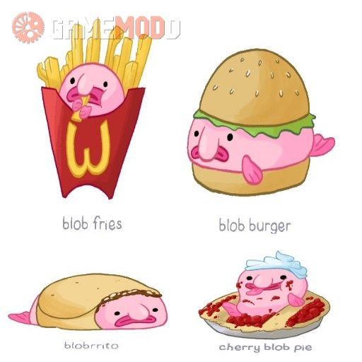 Blobfish Food Sprays
