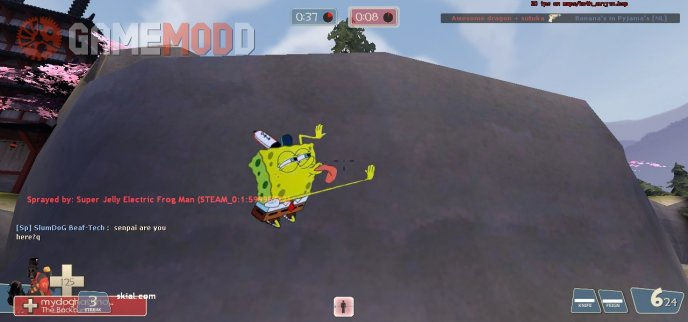 Spongebob licking spray