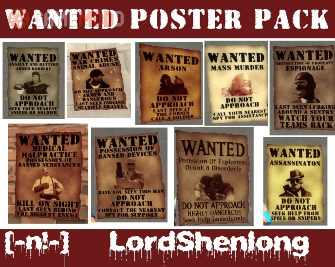 Shens Full Wanted Poster Pack