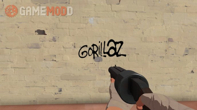 Gorillaz Logo Graffiti